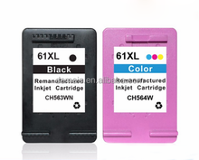 high quality no color deviation compatible/ remanufactured for HP61,61XL ink cartridges