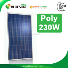 Bluesun hot sale China superior- quality pv solar module 230wp solar pv systerm
