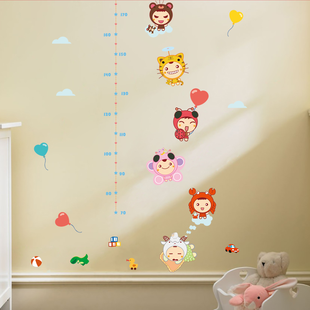 Wholesale growth charts online buy best growth charts from china height measure wall stickers cute wall sticker decal for kids rooms kids stronggrowth amipublicfo Gallery