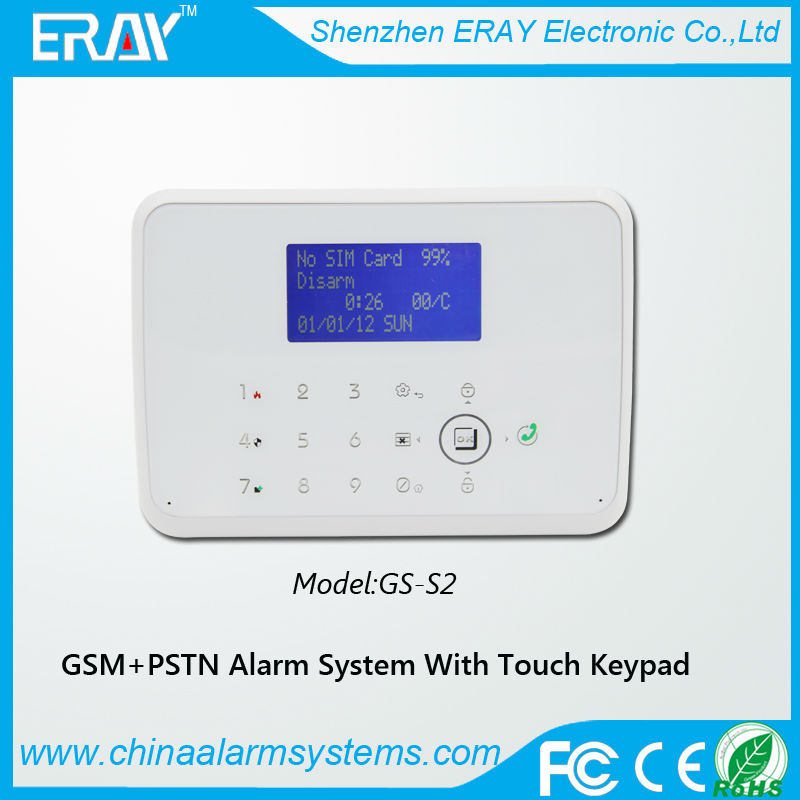House anti-theft alarms system Two way intercom module ip alarm camera pstn wireless call system sms alarm sender