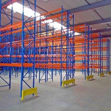 Warehouse Storage Heavy Duty Blue and Orange Selective Pallet Racking