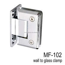 Glass bathroom accessories 90 degree wall to glass hinge shower glass fixings
