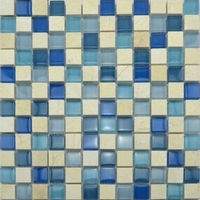 Glass mix stone mosaic tile(PM230118)