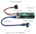 60CM PCI-E 1x to 16x Mining Machine Enhanced Extender Riser Adapter with USB 3.0 & SATA Power Cable