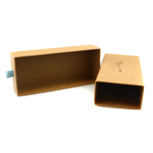 Recycled kraft paper box custom printed cheap kraft gift boxes wholesale