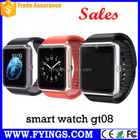 GT08 smart watch Wrist Watch For Mobile Phone Bluetooth