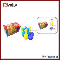 Kids mini plastic bowling toy set