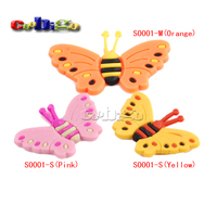 33 23mm Yellow Butterfly Shoe Charms