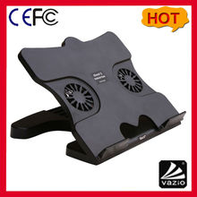 Portable Laptop Cooler Stand and Cooling Fan Stand with 4 USB Hub and 2 Fans