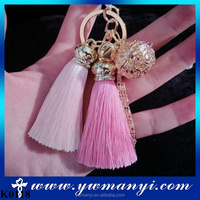 Fashion gifts, Gold Plated Bell Keychain tassels Keychain Holder Ring,fashion car ornaments bag charms K0118