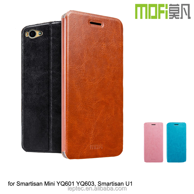 MOFi Case for Smartisan <strong>U1</strong> Yq601, 5.5 inch Cellphone Leather Cover Case for Original Smartisan Mini Yq601 YQ603