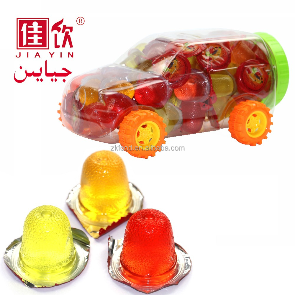 Mixed fruit flavors mini cup jelly pudding, health snack food in children toys