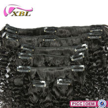 Virgin Brazilian Human Hair,Curly Clip On Hair Extension For Black Women