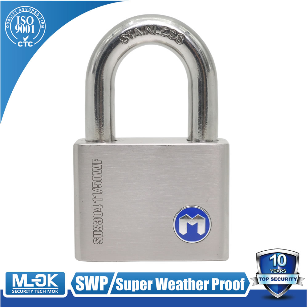 MOK@11/50WF, Super water proof ,anti-rust,hardened the best square padlock