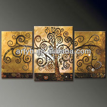 Best price canvas wall art tree oil painting gallery for decor