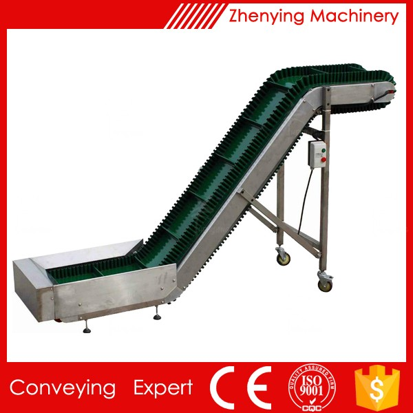Frame Food Handling Peanut Rubber Belt Conveyor
