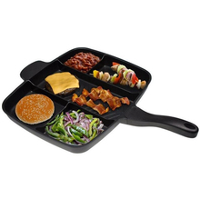 divided grill pan master frying griddle cast iron non-stick plates