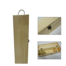 Hest selling 1 bottle wooden wine box packaging wholesale