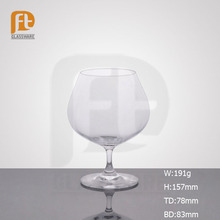European fashionable unlead clear big wine glass with short stem for daily use big capacity wine glass popular saled in amazon