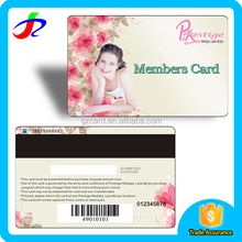 factory price custom plastic pvc membership card with written lable and barcode