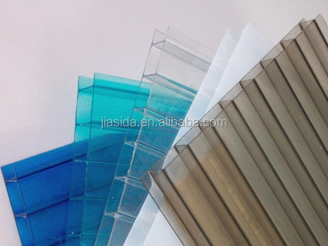 Yuyao Jiasida 8mm colored anti-fog polycarbonate hollow sheet