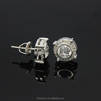 LIXIN 925 sterling silver cz stud earrings fashion earring tops (LF07-398 )
