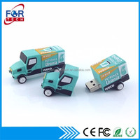 Soft Pvc Truck Usb Flash Pendrive 4gb 3d USB Gifts for Company Gifts