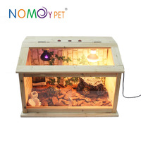 Nomoy Pet black pet display cage with metal bottom tray/pet cage bottom tray