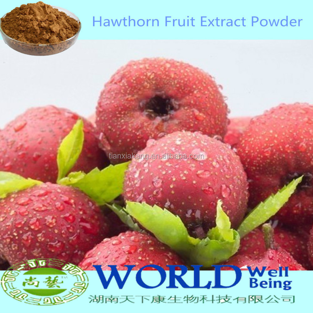 Factory Supply 100% Natural Hawthorn Extract Powder 2%-90% Flavone Hawthorn Berry Fruit Extract