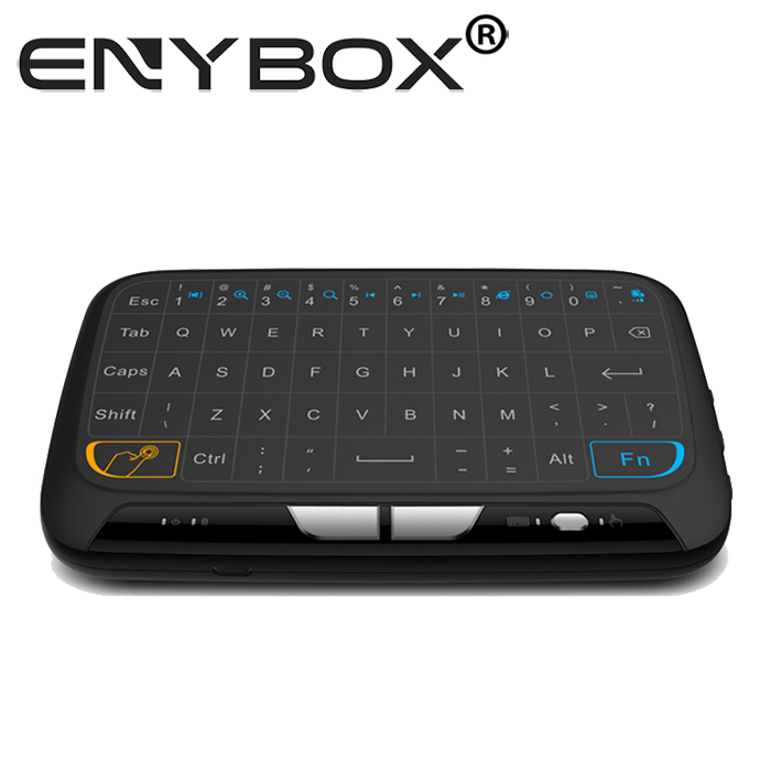 Eny New Keyboard H18 2.4G Android TV Box Remote Control with Large Touch Surface