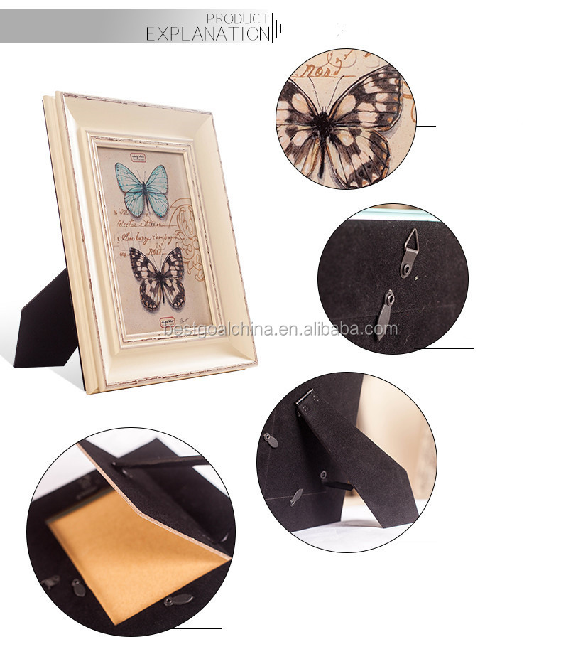 Set Of 3 Rustic Picture Frames Wholesale Butterfly Picture