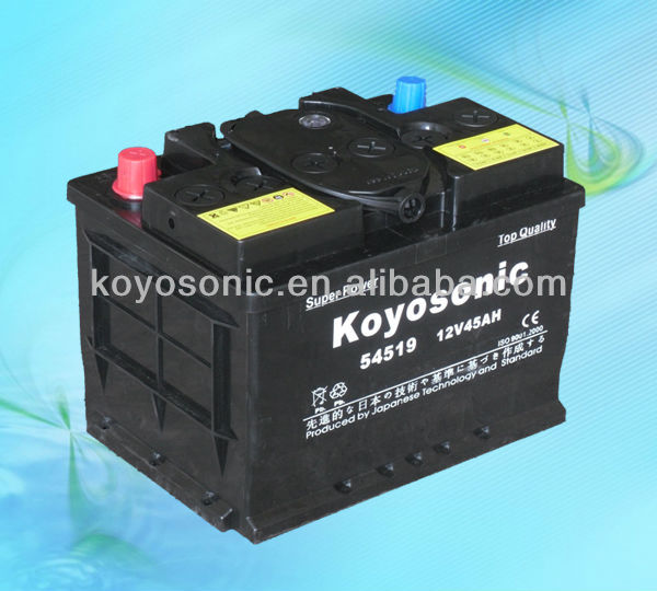 Newest 12v 45AH 54519 GS Car Battery