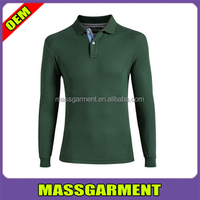 Long sleeve polo 50 cotton 50 polyester t shirts for men
