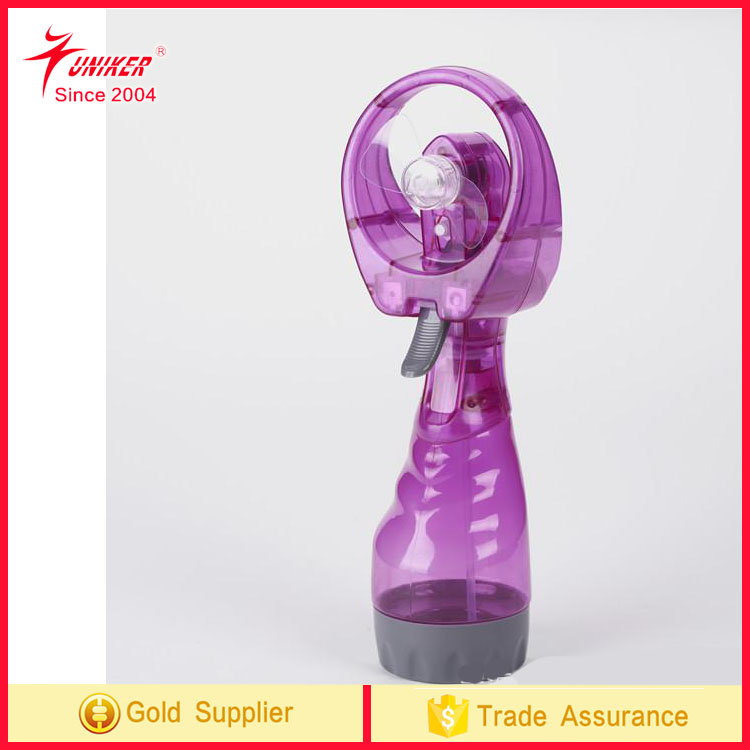 Cool Deluxe Misting Fan, Transparent Purple