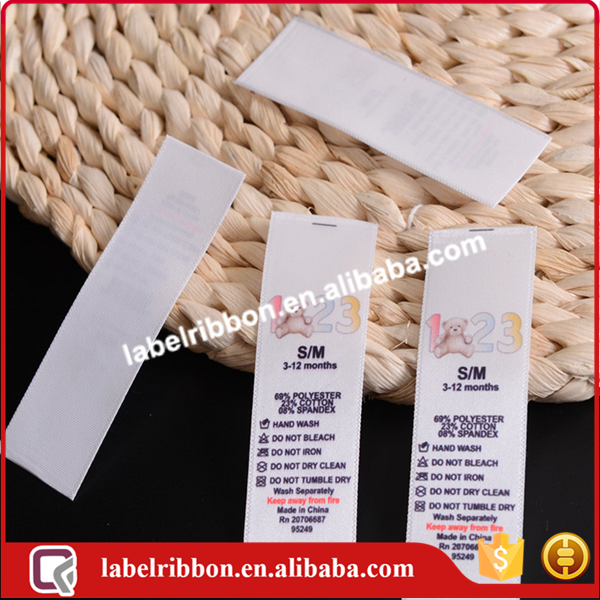solid color woven edge single face Polyester satin label ribbon
