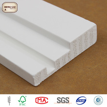 Custom Waterproof Ornament Wood Table white gesso primed finger Joint Board Timber For Furniture Plate Material