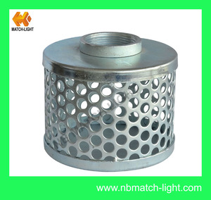 China Supplier Steel Square Hole Suction Strainer