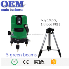 Good electronic self leveling green beam 4v1h rotating laser level OEM