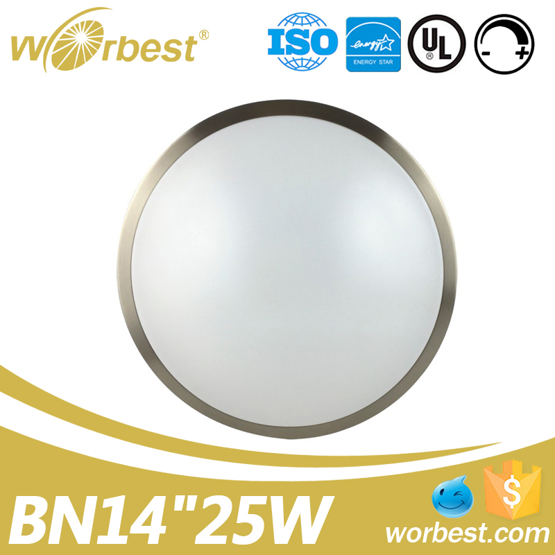 Flush Mount Ceiling Lights 3000k 4000K circular round ceiling lamp 14inch
