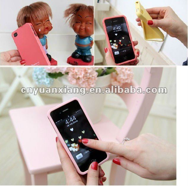 New promotional diy silicone phone case for iphone 4 2012