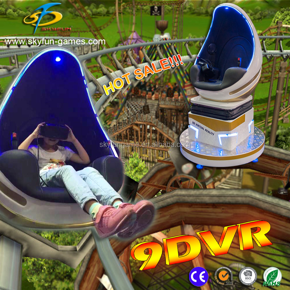 Skyfun New design egg chair games machine amusement equipment Virtual Reality 9D Vr simulator 3d movie porn glasses