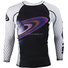 Custom Printed Logo Sublimation MMA long sleeve jiu jitsu rash guards