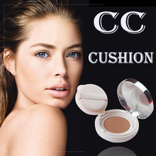 Korea <strong>Cosmetic</strong> CC Cushion Whitening Best Face Waterproof Makeup Base Foundation for Oily Skin