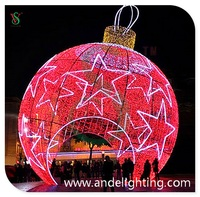 LED Christmas Ball Cone Tree light Ball Motif Light for outdoor decoration