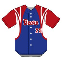 Custom made top quality full sublimation printing baseball jerseys cheap