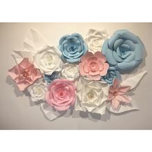 High quality factory handmade craft decorative paper flower A4 paper flower designs wall wedding
