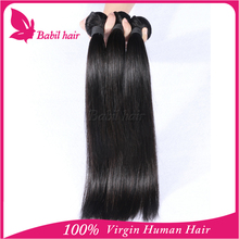 Free shipping by DHL mixed length silk straight brazilian virgin remy hair in stock