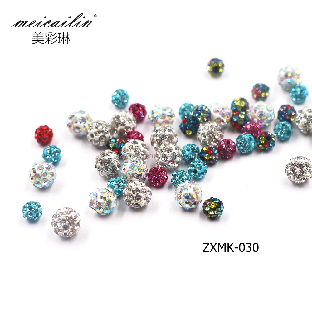 Latest Design Mixed Color 4mm 6mm Rhinestone Ball Nail Art