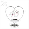 Special Sliver Plated Metal Crystal Wedding Anniversary Gift Idea