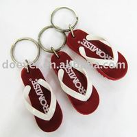 Imprinted Flip Flop Key Chain
